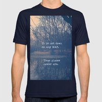 True Places Mens Fitted Tee Navy SMALL