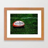 Rugby Time Framed Art Print