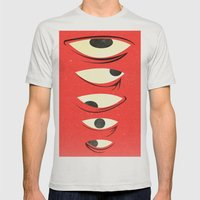 Know Where To Look Mens Fitted Tee Silver SMALL