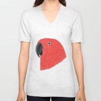 Eclectus [Female] Parrot Unisex V-Neck