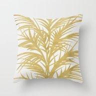 Gold Palms Throw Pillow