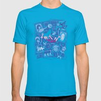 Chihiro in Spiritland Mens Fitted Tee Teal SMALL