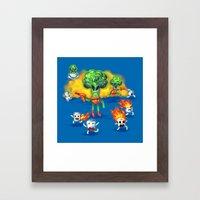 Veggie Attack Framed Art Print