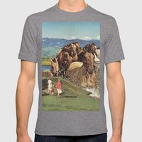 Stampede Mens Fitted Tee Tri-Grey SMALL