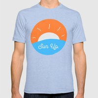 Sun Up Mens Fitted Tee Tri-Blue SMALL