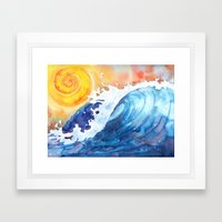 Facing East - Crashing W… Framed Art Print