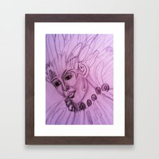 hand drawing by me Framed Art Print