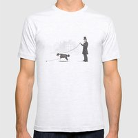 Walking the Dog  Mens Fitted Tee Ash Grey SMALL