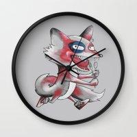 Hungry Fox Wall Clock