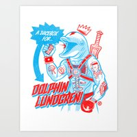 A Juicebox For Dolphin L… Art Print