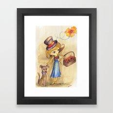 Flower Girl and her friend Framed Art Print