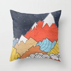 Rocky Mounts  Throw Pillow