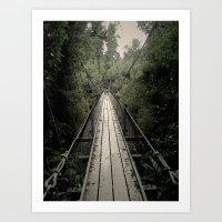 Forest Bridge Art Print