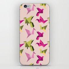 pink paper cranes iPhone & iPod Skin