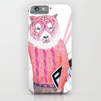 iPhone & iPod Case featuring Pink Tiger by Belén Segarra