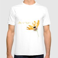 Flower Amore Mens Fitted Tee White SMALL