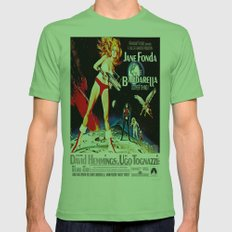 Go Barbarella! Mens Fitted Tee Grass SMALL