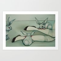 Alice, Devoured by Rabbits Art Print