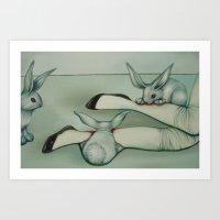 Alice, Devoured By Rabbi… Art Print