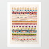 Art Print featuring Pattern by Sandra Dieckmann