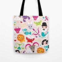 Zodiac and horoscope illustration theme Tote Bag