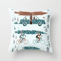Tree Transportation Throw Pillow