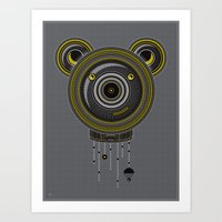 Peace, Love, Panda Art Print