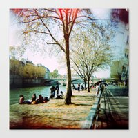 Paris In The Spring Time Canvas Print