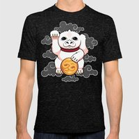 Lucky Dragon Mens Fitted Tee Tri-Black SMALL