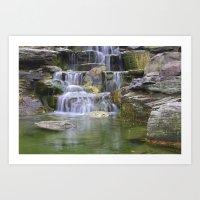 Waterfalls Color Photo N… Art Print