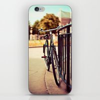 Old vintage style bike iPhone & iPod Skin