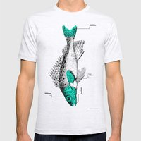 Fish Mens Fitted Tee Ash Grey SMALL