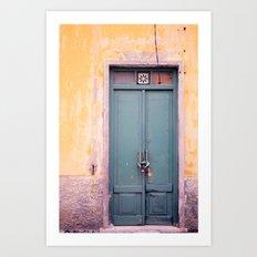Knock on my door, please! Art Print