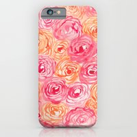 iPhone Cases featuring Abstract Flower Pattern I by Gabrielle Fabunmi