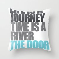 The Door is Ajar Throw Pillow
