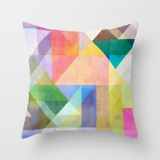 Color Blocking 1 Throw Pillow