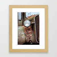 Vintage headlight Framed Art Print