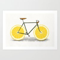 bicycle Art Prints featuring Zest by Florent Bodart / Speakerine