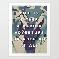 A Daring Adventure Art Print