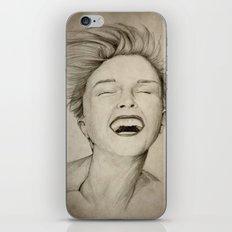 laughing girl iPhone & iPod Skin