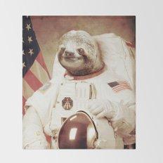 Sloth Astronaut Throw Blanket