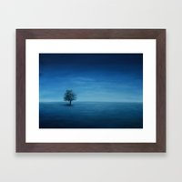 Blue Tree Framed Art Print