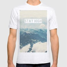Stay High Mens Fitted Tee Ash Grey SMALL