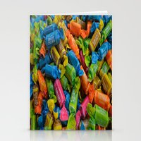 colorful tootsie rolls Stationery Cards
