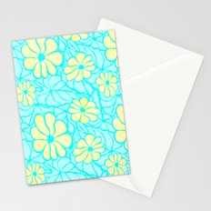 Summer Flowers in Blue Stationery Cards