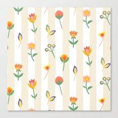 Paper Cut Flowers Canvas Print