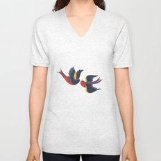 Sparrow songs Unisex V-Neck