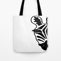 Black And White Zebra Tote Bag