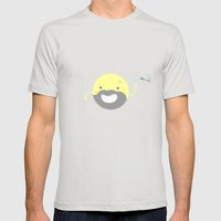 MOONVEMBER Mens Fitted Tee Silver SMALL