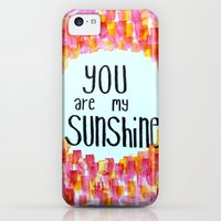 iPhone Cases featuring you are my sunshine by Stella Joy